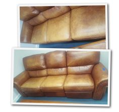 How To Restore Faded Leather Furniture - Kimberly Satorre's Russet Leather Couch Makeover,
