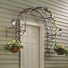 Over the Door Trellis Arbor | Over-the-Door Arch Trellis from Seventh Avenue ®