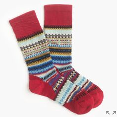 """Chup for J.Crew SmartWool Socks These socks from Tokyo-based Chup are limited edition (seriously, the company makes only a handful each day) and made from moisture-wicking smartwool. Chup, an acronym for """"Classical Human's Universal Peace,"""" refers to the sun, the moon and the stars in the sky, which the Ainu (Japan's native people) worshipped. Wool. J. Crew Accessories Hosiery & Socks"""