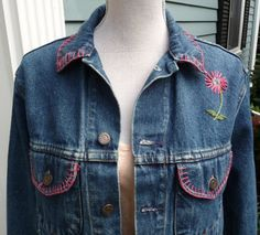 GAP Embroidered Blue Denim Jean Jacket at AngelGrace on Etsy. #GiftIdea #TeenGirl #EtsyGifts #JeanJacket #Outerwear #Classic #Denim #VintageGAP