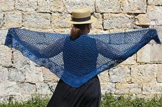 Ravelry: Blue leaves pattern by EclatDuSoleil Leaf Border, Shawl Patterns, Blue Leaves, Tailored Jacket, Crochet Shawl, Simple Dresses, Ravelry, Lace Skirt, Stitch