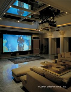 Home Theater Speakers Projectors Dim Lighting Automation Commercial Theatre