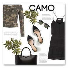 """""""Go Camo"""" by bliznec ❤ liked on Polyvore featuring Frame Denim, Faith Connexion, J.Crew, Givenchy, Ray-Ban, polyvorecontest and camostyle"""