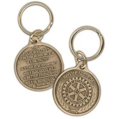 079f819ee5581 Russell-Hampton Co. Rotary Club Supplies  The Four-Way Test Medallion  Keyring