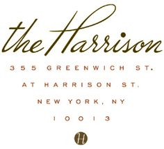 The Harrison. Dinner here last night.