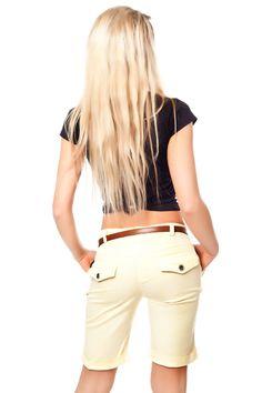 Bermuda Shorts mit Aufschläge & Klapptaschen inkl. Gürtel