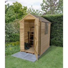 Overlap Apex Shed 6x4