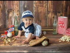 Cake smash outfit boy, Baseball cake smash and birthday outfit, navy pinstripes, baseball uniform, baseball pants cap and tshirt by SMPstore on Etsy https://www.etsy.com/listing/266733956/cake-smash-outfit-boy-baseball-cake