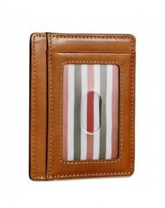 Buy Front Pocket Minimalist Wallet RFID Leather Slim Card Holder - Classic Orange - Vegetable Tanned / - and More Fashion Bags at Affordable Prices.