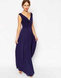 ASOS | ASOS WEDDING Cowl Neck Maxi Dress at ASOS