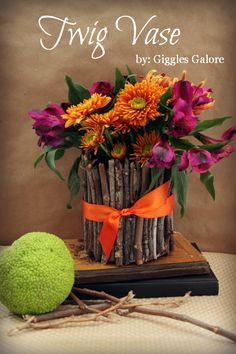 Twig Vase Tutorial by Giggles Galore
