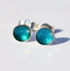 Turquoise Dot Collection studs