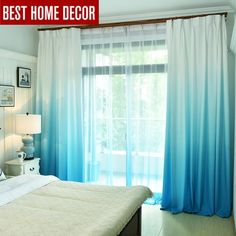 Gradient color window curtains for living room bedroom kitchen tulle curtains and blackout curtains for window shading rate Price history. Category: Home & Garden. Subcategory: Home Textile. Living Room Decor Curtains, Living Room Windows, Living Room Bedroom, Bedroom Drapes, Kitchen Curtains, Modern Bedroom, Tulle Curtains, Window Curtains, Curtain Fabric