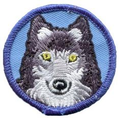 Patrol, Badge, Wolf, Akala, Akela, Dog, Howl, Cub, Scout, Embroidered Patch, Merit Badge, Badge, Emblem, Iron On, Iron-On, Crest, Lapel Pin, Insignia, Girl Scouts, Boy Scouts, Girl Guides