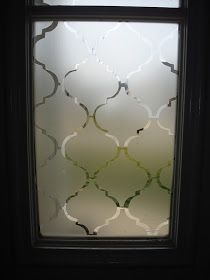 We have small sidelight windows on either side of our front door.          (This is an old picture...I have since painted the door black t...