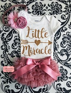 BABY BODYSUIT SET Little Miracle Bodysuit with Matching