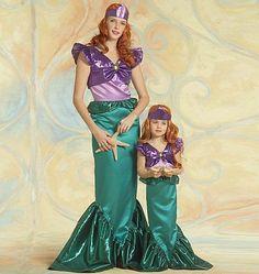 McCalls 5498 Girl Disney Little Mermaid Princess Costume Sewing Pattern NEW The Little Mermaid Musical, Disney Little Mermaids, Ariel The Little Mermaid, Disney Girls, Mermaid Disney, Mermaid Princess, Ariel Costumes, Disney Princess Costumes, Cosplay Costumes