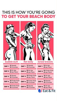 💪🥑You'll Kick Yourself if You Miss This Chance to Lose Weight Personal Body Type Plan to Make Your Body Slimmer at Home! Click and take a Quiz. Lose weight at home with effective 28 d Fitness Workouts, Gym Workout Videos, Fitness Workout For Women, Butt Workout, At Home Workouts, Fitness Tips, Weight Workouts, Bike Workouts, Body Fitness