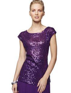 purple sequin top