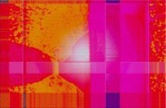 """'Stoffdesign """"rotgelborange (1c)""""' von Rudolf Büttner bei artflakes.com als Poster oder Kunstdruck $18.71"""