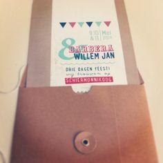 3 dagen feest op #schiermonnikoog #trouwuitnodiging #kraft gemaakt op #breinboerderei