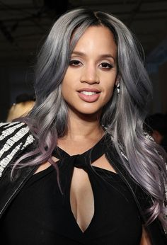 This OITNB Star Is Starting a New Purple Hair Trend You Haven't Seen Before via Brit + Co.