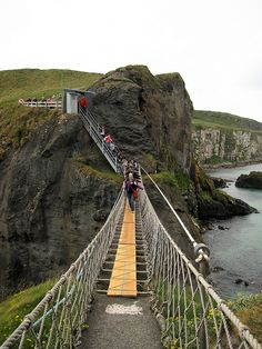 Rope Bridge, Northern Ireland.