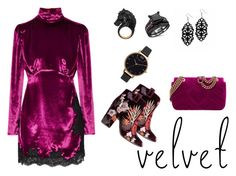 """""""velvet"""" by tanz-mim on Polyvore featuring Alessandra Rich, Laurence Dacade, Gucci, Olivia Burton and Nisan"""