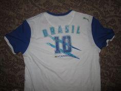 New  BRASIL BRAZIL    Fútbol  Football   SOCCER T Shirt   Size L - Puma  NWT #Puma #Brazil