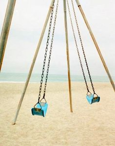 this would be perfection... swings on the  beach.. yes please