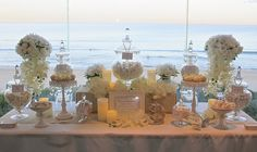 Summer Beach White Candy Bar/ Candy Buffet Design, Styling, Concept and Desserts by Sweet Bits and Pieces. www.sweetbitsandpieces.com.au
