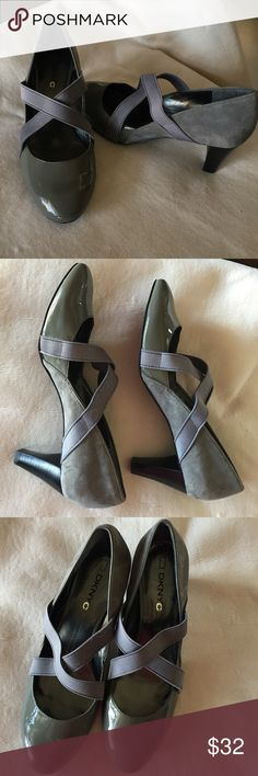 """DKNYC Stacey Leather and Suede Gray color shoes Size 10 ,NWOT,Heel 2,8"""",True to size . DKNYC Shoes Heels"""