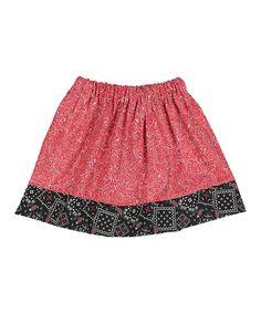 Red & Black Bandanna Twirl Skirt