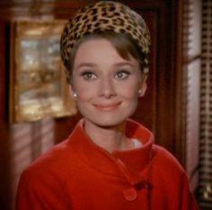 <3 Audrey Hepburn's 1960s leopard print pillbox hat