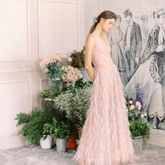 Textured bottoms with a pop of pink adds flair to this classic bridal silhouette. Bridal Gowns, Wedding Gowns, Whimsical Fashion, Bridal Fashion, Beautiful Patterns, Bridal Collection, Wedding Styles, Bead, Bridesmaid Dresses