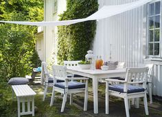 Hang Up an Old Curtain or Sheet for Outdoor Shade