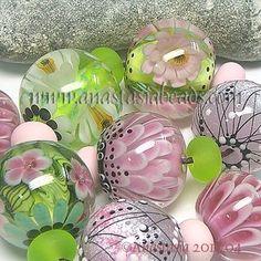 "Anastasia Lampwork Beads 8 ""May Flowers"" SRA | eBay  http://www.ebay.com/itm/261205900517?ssPageName=STRK:MESELX:IT&_trksid=p3984.m1555.l2649"