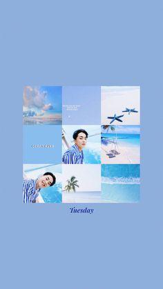 Pastel Wallpaper, Cute Wallpaper Backgrounds, Wallpaper S, Cute Wallpapers, Screen Wallpaper, Aesthetic Backgrounds, Aesthetic Wallpapers, Chanyeol, Kang Min Hyuk