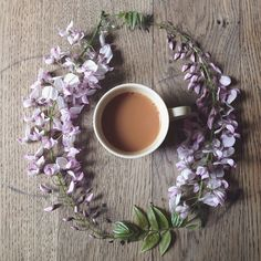 { wisteria ♡ } - and a cup of coffee