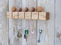 Wooden key holder Modern key holder Wall key by TurtleWorkshop