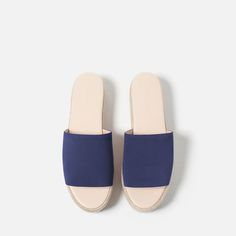 Image 4 of PLATFORM LEATHER SANDALS from Zara