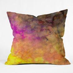Sophia Buddenhagen Purple Abyss Throw Pillow   DENY Designs Home Accessories