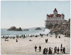 The Cliff House in San Francisco, California. Wish it had never burned down. The present day one is not nearly as cool at this one.