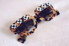 Prada flowered cat eye sunglasses