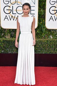 Alicia Vikander in Louis Vuitton, Golden Globes 2016 Asos Fashion, Star Fashion, Fashion News, Golden Globes 2016, Golden Globe Award, Louis Vuitton, Celebrity Dresses, Celebrity Style, Beverly Hills