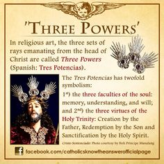 Have you ever wondered about the three sets of rays emanating from the head of Christ as seen on various religious icons and statues? What are they called and what do they symbolize?