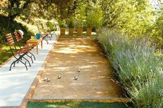 Game Time Do a little landscaping and add a bocce ball court to your backyard. The game can always bring friends together and gives your yard a classy yet casual vibe.
