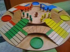 The 7 Most Thrilling Board Games From Around The World Wooden Board Games, Wood Games, Diy For Kids, Crafts For Kids, Board Game Template, Ideias Diy, Diy Games, Christmas Games, Table Games