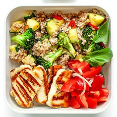 Zestaw lunchowy z grillowanym serem halloumi - Recipes - Bento Ideas Halloumi, Weekday Meals, Meal Prep, Good Food, Food Porn, Lunch Box, Brunch, Food And Drink, Vegetarian