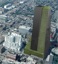 Artist's impression of a vertical urban farm shared by Curbed SF